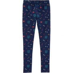 Legginsy w kolorze granatowym. Niebieskie legginsy dziewczęce marki Carter's. W wyprzedaży za 35,95 zł.