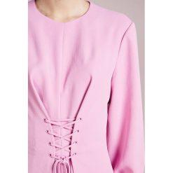 Tibi DRAPE CORSET MIDI DRESS Sukienka letnia pink - 2