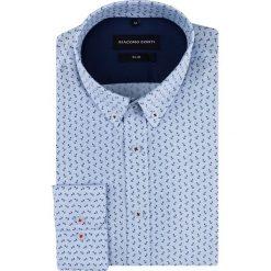 Koszula SIMONE KDWS000543. Szare koszule męskie na spinki Giacomo Conti, m, z bawełny, button down, z długim rękawem. Za 169,00 zł.