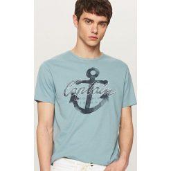 T-shirty męskie: T-shirt z motywem kotwicy – Niebieski