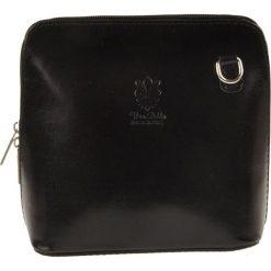 Torebki klasyczne damskie: Skórzana torebka w kolorze czarnym – 16 x 16 x 8 cm