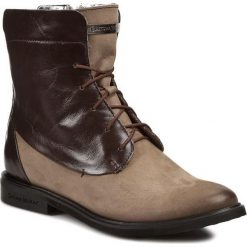 Buty zimowe damskie: Botki NIK - 08-0254-005 Brązowy Szary