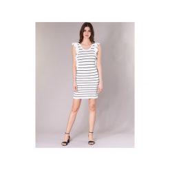 Sukienki krótkie Vero Moda  VMABHY. Białe sukienki mini Vero Moda, l, z krótkim rękawem. Za 143,20 zł.