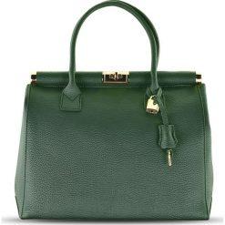 """Torebki klasyczne damskie: Skórzana torebka """"Carla"""" w kolorze zielonym – 33 x 26 x 16 cm"""