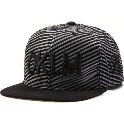 Czapka męska snapback czarna (hx0210). Czarne czapki z daszkiem męskie marki Dstreet, z haftami, eleganckie. Za 69,99 zł.