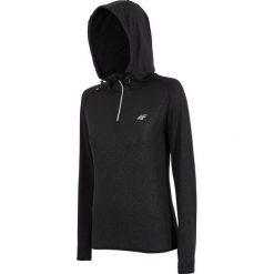 Bluzy rozpinane damskie: Bluza treningowa damska BLDF001 - czarny - 4F