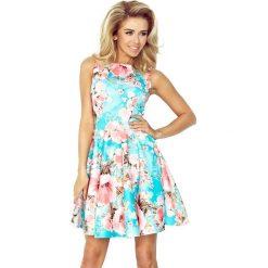 Sukienki hiszpanki: Sukienka rozkloszowana w kwiaty nm-125-15