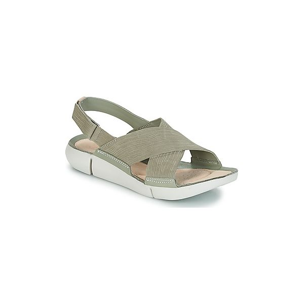 22f866001e36f Sandały Clarks TRI CHLOE - Zielone sandały damskie Clarks, bez ...