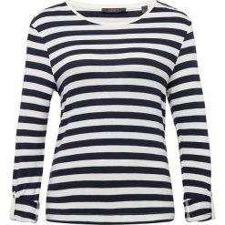 Esprit Collection - Damska koszulka z długim rękawem, niebieski. Niebieskie t-shirty damskie Esprit Collection, xxl, w prążki, z szyfonu. Za 159,95 zł.