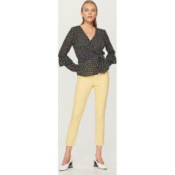 Spodnie z wysokim stanem: Spodnie z wysokim stanem – Żółty