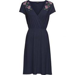 Sukienki: Sukienka kopertowa z dżerseju z koronką bonprix ciemnoniebieski