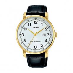 """Zegarek """"RH924JX8"""" w kolorze czarnym. Czarne, analogowe zegarki męskie marki Lorus, Pulsar, ze stali. W wyprzedaży za 169,95 zł."""