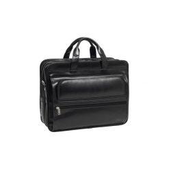 "Torba Męska na laptopa Mcklein Elston 17"" ze skóry naturalnej czarna. Czarne torby na laptopa Mcklein, w paski, ze skóry. Za 579,00 zł."