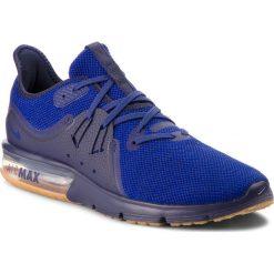 Buty NIKE - Air Max Sequent 3 921694 405 Obsidian/Deep Royal Blue. Niebieskie buty do biegania męskie Nike, z materiału, nike air max. W wyprzedaży za 329,00 zł.