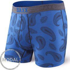 Bokserki męskie SAXX Platinum Paisley Blue. Czarne bokserki męskie marki Astratex, z bawełny. Za 120,27 zł.