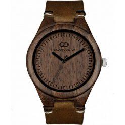 Zegarek Giacomo Design Drewniany  męski GD08012. Brązowe zegarki męskie Giacomo Design. Za 359,00 zł.