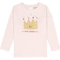 Bluzki dziewczęce: Koszulka T-shirt z błyszczącą koroną 3-12 lat
