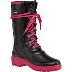 Kalosze LE CHAMEAU - Bottine Saiga BCB1854 Noir Fuschina. Czarne buty zimowe damskie Le Chameau, z kauczuku. W wyprzedaży za 529,00 zł.