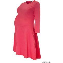 Sukienki ciążowe: Sukienka ciążowa klosz dłuższy tył koral