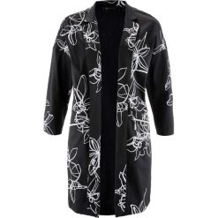 Płaszcze damskie: Płaszcz bonprix czarno-biały z nadrukiem