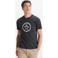 T-shirty męskie z nadrukiem: Original Penguin DISTRESSED CIRCLE LOGO TEE Tshirt z nadrukiem dark charcoal heather