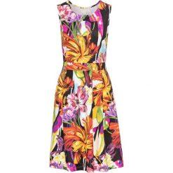 Sukienki: Sukienka bonprix czarny w kwiaty