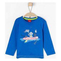 S.Oliver T-Shirt Chłopięcy 68 Niebieski. Niebieskie t-shirty chłopięce S.Oliver, z bawełny. W wyprzedaży za 29,00 zł.
