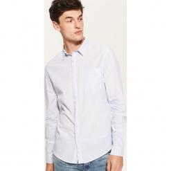 Koszula w drobną kratkę - Niebieski. Szare koszule męskie w kratę marki House, l, z bawełny. Za 79,99 zł.