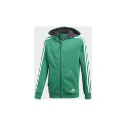 Bluzy dresowe Dziecko adidas  Bluza z kapturem Essentials 3-Stripes. Zielone bluzy chłopięce rozpinane Adidas, z dresówki. Za 139,30 zł.