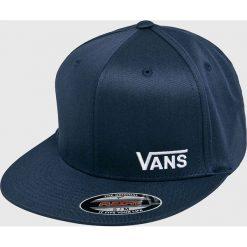 Vans - Czapka. Niebieskie czapki z daszkiem męskie marki Vans, z bawełny. W wyprzedaży za 89,90 zł.
