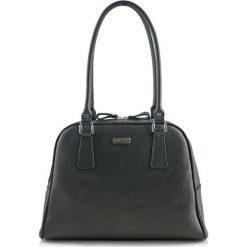 Torebki klasyczne damskie: Skórzana torebka w kolorze czarnym – (S)40 x (W)30 x (G)15 cm