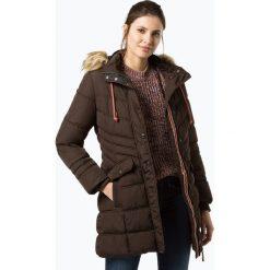 Soquesto - Damski płaszcz pikowany, brązowy. Brązowe płaszcze damskie Soquesto, s, z futra. Za 469,95 zł.