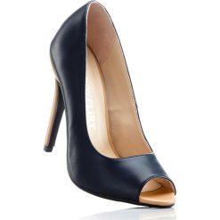 Buty ślubne damskie: Czółenka z odkrytymi palcami bonprix granatowo-cielisty
