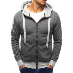 Bluzy męskie: Bluza męska z kapturem rozpinana szara (bx3013)