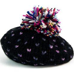 Czapka-beret damska i kolorowy pompon czarna (cz2703). Czarne czapki zimowe damskie marki Art of Polo, w kolorowe wzory. Za 47,34 zł.