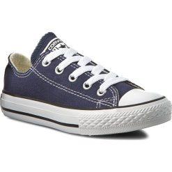 Trampki CONVERSE - Yths C/T Allstar Ox 3J237 Navy. Niebieskie trampki chłopięce Converse, z gumy, na sznurówki. W wyprzedaży za 169,00 zł.
