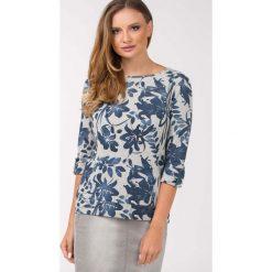 Bluzy rozpinane damskie: Bluza w kwiaty