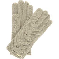 Rękawiczki damskie. Szare rękawiczki damskie Ochnik, w ażurowe wzory, z dzianiny. Za 39,90 zł.