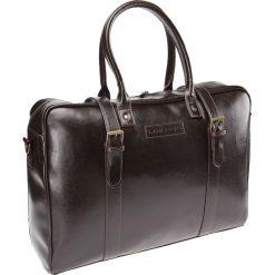 Torba Skórzana Brązowa Amalfi. Brązowe torby na ramię męskie marki Kazar, ze skóry, przez ramię, małe. Za 899,90 zł.