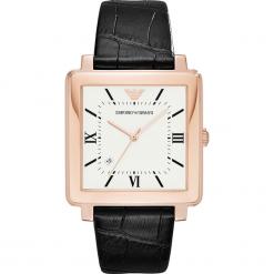 Zegarek EMPORIO ARMANI - Modern Square AR11075 Black/Rose Gold. Szare zegarki męskie marki Emporio Armani, l, z dzianiny. Za 1059,00 zł.