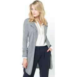 Sweter rozpinany, luźny, długi, 100% kaszmiru. Szare kardigany damskie marki La Redoute Collections, m, z bawełny, z kapturem. Za 357,21 zł.