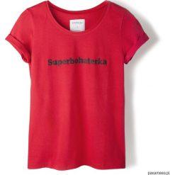 T-shirt czerwony Superbohaterka. Niebieskie t-shirty damskie marki Pakamera, z bawełny. Za 79,00 zł.