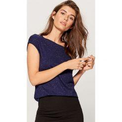 Koszulka basic - Niebieski. Niebieskie t-shirty damskie marki Mohito, m. Za 39,99 zł.