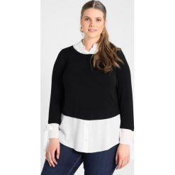 Bluzki asymetryczne: Evans INNER Bluzka z długim rękawem black/white