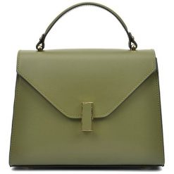 Torebki klasyczne damskie: Skórzana torebka w kolorze zielonym – (S)20 x (W)24 x (G)10 cm
