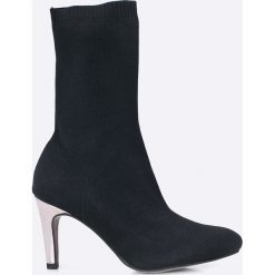 Tamaris - Botki. Szare buty zimowe damskie marki Tamaris, z materiału, na sznurówki. W wyprzedaży za 129,90 zł.