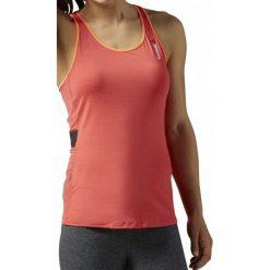 Reebok Koszulka damska treningowa One Series ActivChill W pomarańczowa r. M (AO0285). Szare topy sportowe damskie marki Reebok, l, z dzianiny, casualowe, z okrągłym kołnierzem. Za 94,25 zł.
