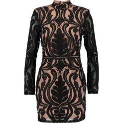 Sukienki: Missguided HIGH NECK BAROQUE MINI DRESS Sukienka koktajlowa black