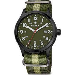 Zegarek Swiza Zegarek męski Kretos Gent SST czarno-zielony (WAT.0251.1102). Czarne zegarki męskie Swiza. Za 612,50 zł.