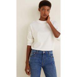 Mango - Bluzka Revo. Szare bluzki damskie Mango, l, z bawełny, casualowe, z okrągłym kołnierzem. Za 35,90 zł.